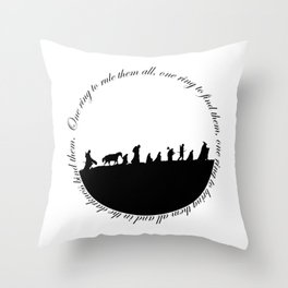 Ring of power Throw Pillow