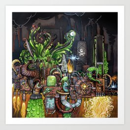 Contraption of Waste Art Print