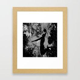 SLAM DUNK IN BLACK AND WHITE Framed Art Print