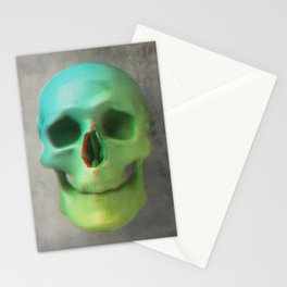 Anaglyph // Skull Stationery Cards
