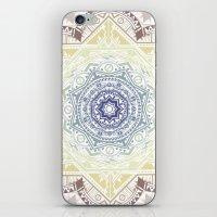 henna iPhone & iPod Skins featuring Mandala Henna by Liz Slome