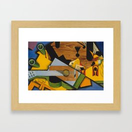 Juan Gris - Still life with a guitar Framed Art Print