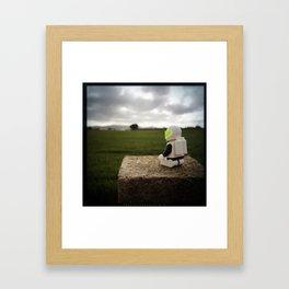 Meditating Neil Framed Art Print