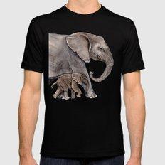 Elephants Mens Fitted Tee Black MEDIUM