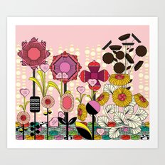 Confectionery Garden Art Print