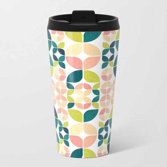 Rose Garden Pattern Metal Travel Mug