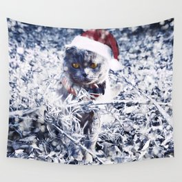 Christmas kitty Wall Tapestry