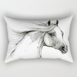 Arabian horse ink art Rectangular Pillow