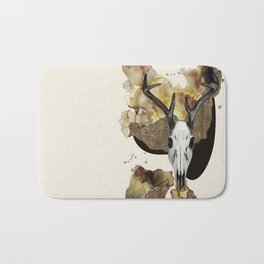 Deer Skull by carographic Bath Mat