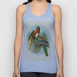 Vintage Parrots Unisex Tank Top