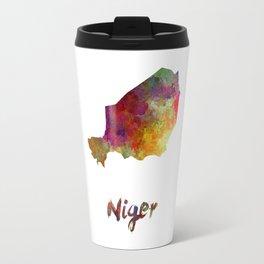 Niger in watercolor Travel Mug