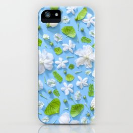 Leaves and flowers pattern (16) iPhone Case
