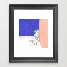 La pequeña vendedora de cerillas Framed Art Print