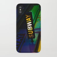 subway iPhone & iPod Cases featuring Subway by Mark Spence