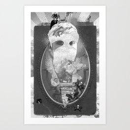 WHITEOUT zine Art Print