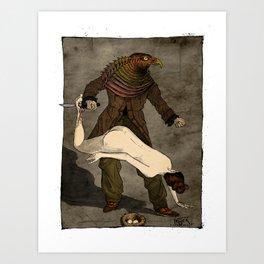 The Birdman (after Max Ernst) Art Print