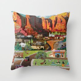 Red Rock Serenity Throw Pillow