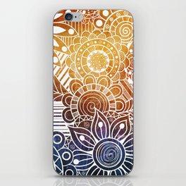Sunset Doodle iPhone Skin