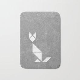 tangram cat Bath Mat