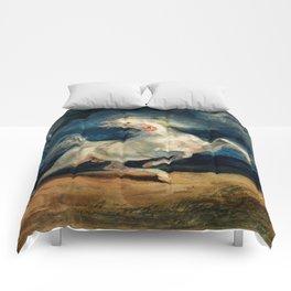 "Eugene Delacroix ""Horse Frightened by Lightning"" Comforters"