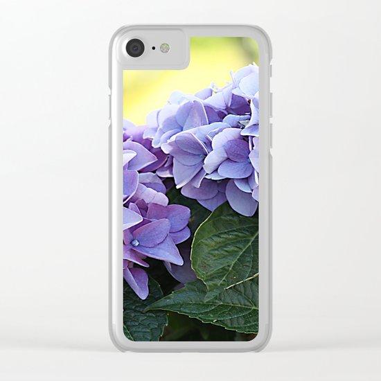 Purple hydrangea(1). Clear iPhone Case