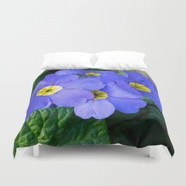 Blue Heartsease Flower Duvet Cover