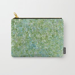 Splatter Painting in Blue, Green and White Carry-All Pouch