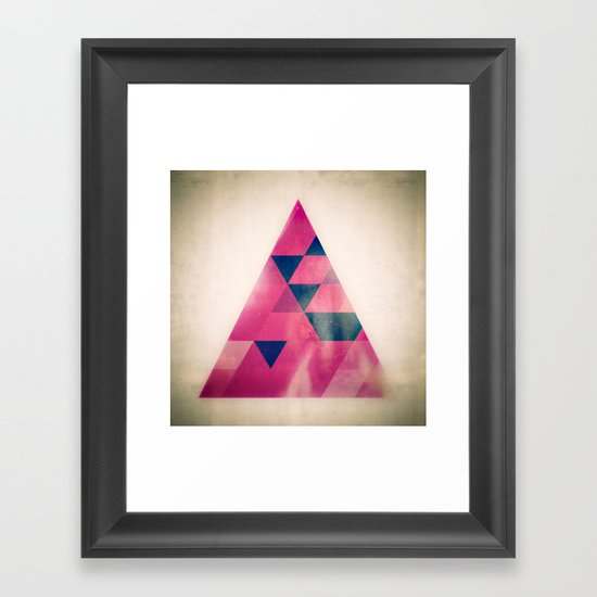 TRYYNGL LYT Framed Art Print