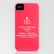 Keep Calm Forget YOLO Slim Case iPhone (4, 4s)