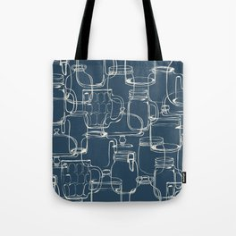 glass containers Tote Bag