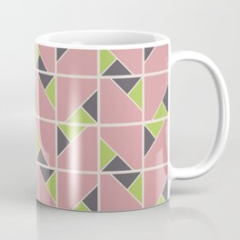Retro Geometry surface pattern (Pink-green) Coffee Mug