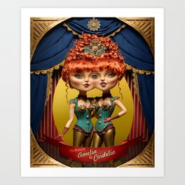 Amelia & Cordela Art Print