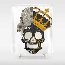 The Skull Equals Shower Curtain