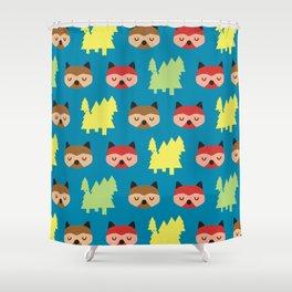 The Bandit Raccoons II Shower Curtain