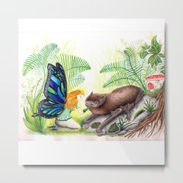 The fairy and the bat Metal Print
