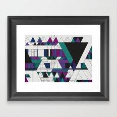Triangled! Framed Art Print