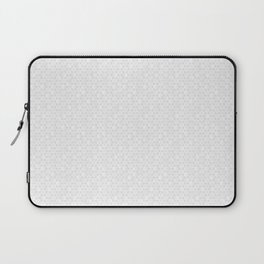 Modern Minimal Hexagon Pattern in Silver Gray and White Laptop Sleeve