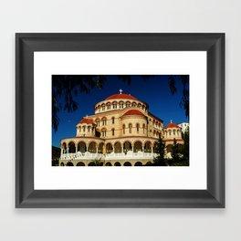 St. Nectarios of Aegina Orthodox Church, Aegina, Greece Framed Art Print