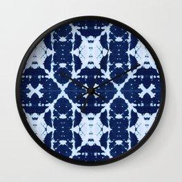 X Cloth Shibori Wall Clock