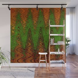 Waving Green Wall Mural