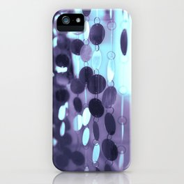 GLAM CIRCLES #Mint/Blue #1 iPhone Case