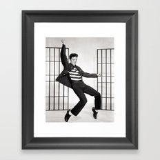 ELVIS PRESLEY - JAILHOUSE ROCK Framed Art Print