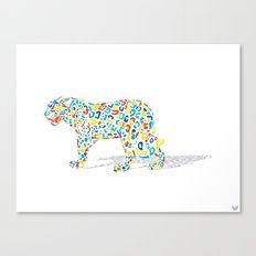 Technicolor Jaguar Canvas Print