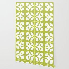 Mid Century Modern Star Pattern Chartreuse 552 Wallpaper