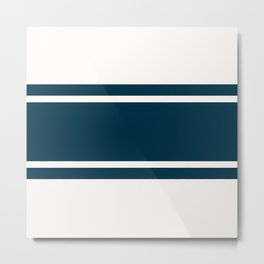 Varsity Stripes Metal Print