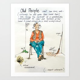 Old People Art Print