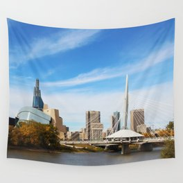 Downtown Winnipeg 2 Picture Panorama Wall Tapestry