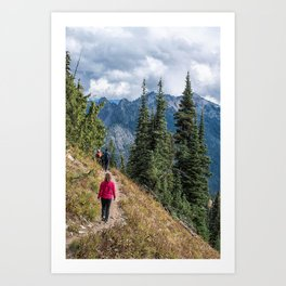Pacific Crest Trail, Chinook Pass, Washington Art Print