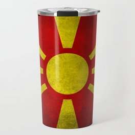"Flag of Macedonia in ""Super Grunge"" Travel Mug"