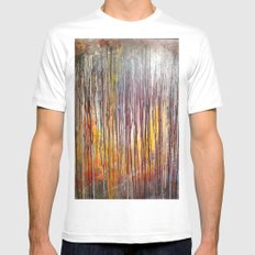 Sun Rise SMALL White Mens Fitted Tee
